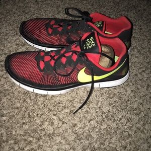 on sale a4a31 9cbab Nike Shoes - Nike Free 3.0 CYM Red Black Yellow Trainer 553684-